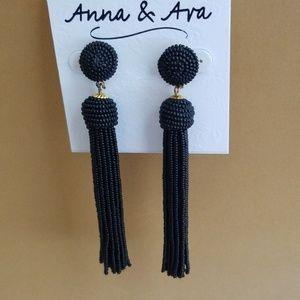 ANNA & AVA BEADED TASSEL EARRINGS